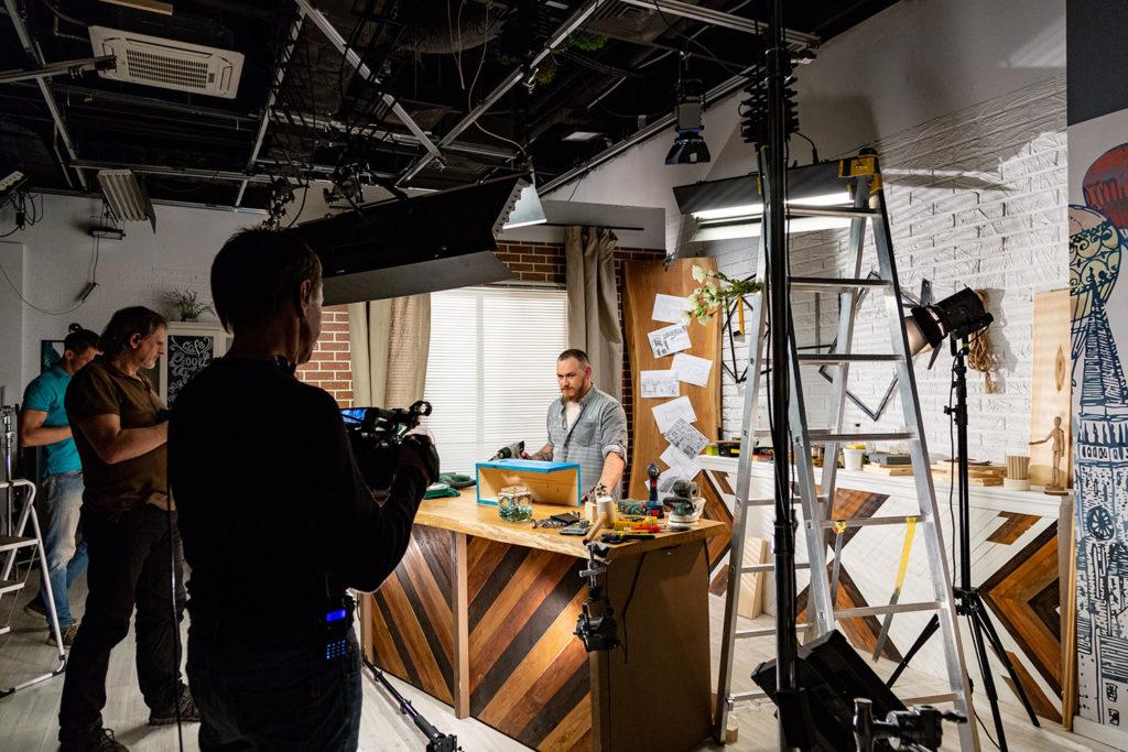 Videoproduktion Inhouse fertiges Drehset in Ihrem Unternehmen